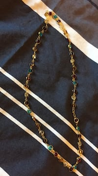 gold-colored chain necklace Milton, L9E