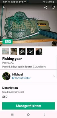 Fishing gear 3 complete poles and tackle