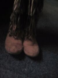 Leather moccasins boots
