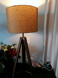 "40"" Tripod Lamp with Burlap Shade Panama City Beach"