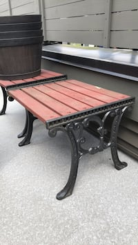 Patio tables. 3 available! Price is per table. Heavy rod iron. Wood can be sanded and repainted to any colour to suit your needs  Langley, V2Y 0X6