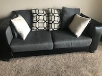 black and gray fabric 2-seat sofa Columbus, 43219