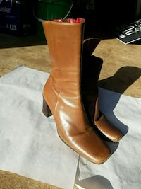 pair of brown leather knee-high boots Fairfax