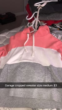 red and white zip-up hoodie Waterloo, N2V 0C2