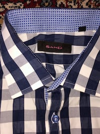 Blue and White Checkered Dress Shirt Vaughan, L6A 2N4