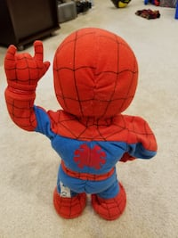 Itsy Bitsy Spider Man Plush Interactive Toy (Sound Effects) Springfield