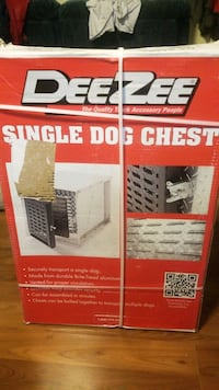 Single dog chest for safe truck box traveling