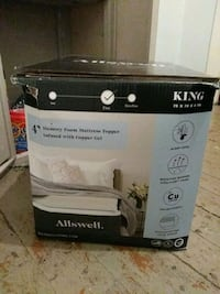 Allswell king size memory foam mattress topper infused with copper gel