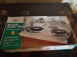 Westinghouse double Buffett range electric on box