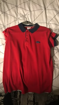 red and black Lacoste polo shirt London, N17 0AX