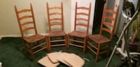Set of 4 Ladder back chairs, good condition Travelers Rest, 29690