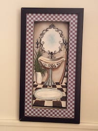 Black base frame with sink paint wall art Abilene, 79605