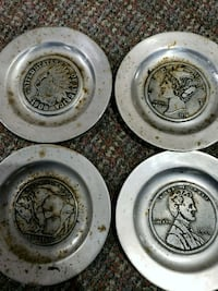 Vintage coin plates  Pawtucket, 02860