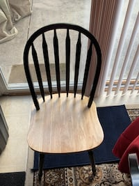 brown wooden windsor chair with white pad Washington, 20019