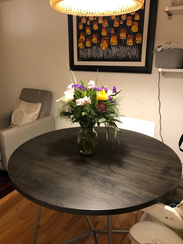 "40"" round dining table from CB2 06160f16-13a5-4529-96e9-59aab1ec67ec"