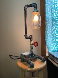 Industrial Lamp with USB charger
