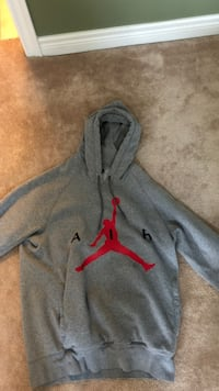 gray and red Nike pullover hoodie Milton, L9T 6S1
