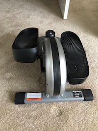 Compact sitting/standing elliptical