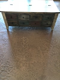 Rustic multi colored coffee table with lots of storage Elkhorn, 68022