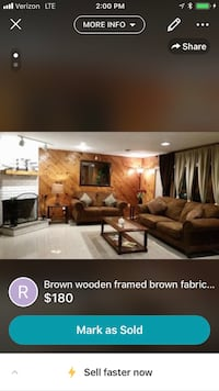 Brown wooden fabric couches