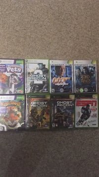 8 assorted xbox 360 game cases Montréal, H8T 2W2