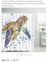 Shower curtain with shell hooks Rockville, 20850