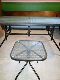 Tempered Glass Deck Table w/ Chairs and Side Table Kingsville, 21087