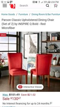 6 red chairs $20 each original price 2 for $130 Los Angeles, 91042