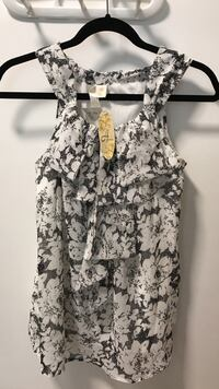 Women's white and black floral halter top Surrey, V3S 5W6