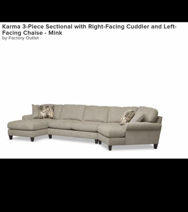 Haverty's original Cream sectional couch c33dc34e-71ca-4c06-a6fd-210804ee2132