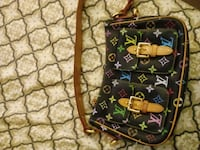 black and brown Louis Vuitton monogram handbag Las Vegas