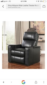Abbyson Rider Leather Theater Recliner Sarasota, 34233