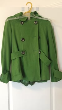 Green Forever 21 jacket size large with hood Innisfil, L9S 0E3