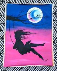 Unstretched Girl Swinging in the Wind Painting Washington, 20007