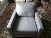 Grey leather sofa chair Barrie, L4N 8K1