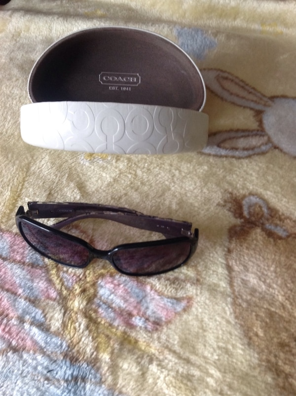 Black framed Coach sunglasses with case