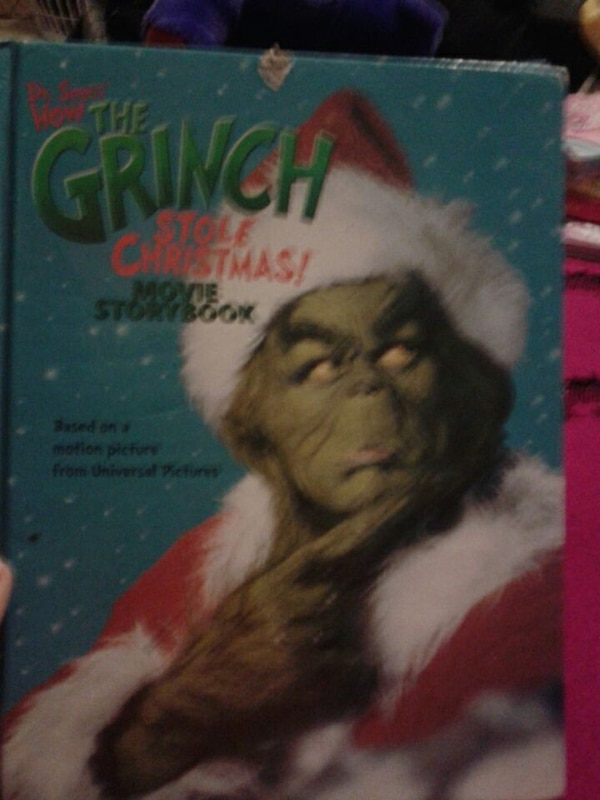 The Grinch Who Stole Christmas Movie.The Grinch Stole Christmas Movie Storybook