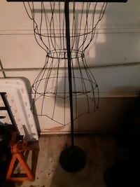 Black dress mold with stand
