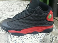 unpaired black and red Air Jordan 13 shoe Toronto, M9M 1W6