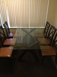 Glass dining table 6 chairs Sacramento, 95841