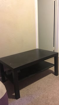 rectangular black wooden coffee table Denver, 80204