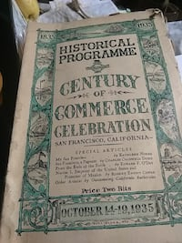 Historical Programme Century of commerce book Alameda, 94501