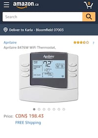 The Aprilaire Model 8476W WiFi Thermostat. Brand New!