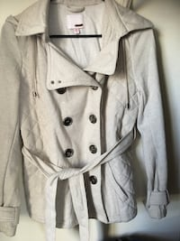 gray double breasted trench coat Woburn, 01801