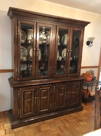 Brown wooden framed glass display cabinet Old Bridge, 08857