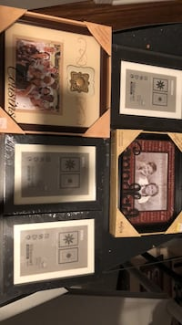 four assorted-color photo frames 20 km