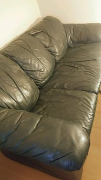 2 Green Leather couches  Calgary