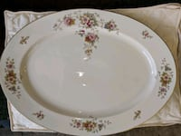 white and pink floral ceramic plate Rockville, 20853
