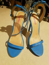 Womens Heels Strappy Size 8.5 Blue Galena, 65656