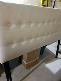 Off white leather bed head. Mississauga, L5T 1N6